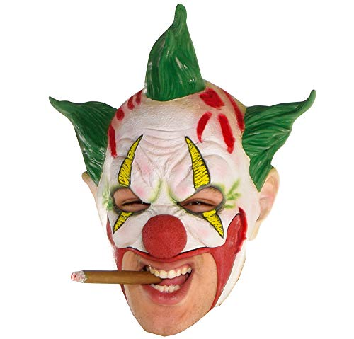 amscan Green-Haired Clown Mask for Adults, One Size]()