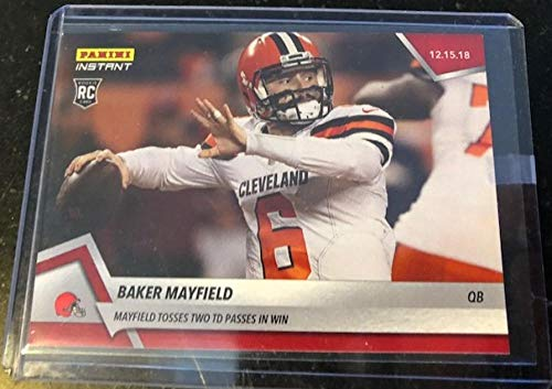 438cbde10 Amazon.com  2018 Panini Instant NFL  170 Baker Mayfield RC Rookie Cleveland  Browns Tosses Two TD Passes in Win December 15 2018 Print Run 124   Collectibles ...