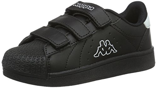 Kappa Unisex-Kinder Olymp Kids Low-Top Schwarz (1110 Black/White)