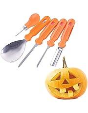 iwobi 5 Pcs Pumpkin Carving Tool,Professional Pumpkin Carving Kit for Kids Halloween Decoration