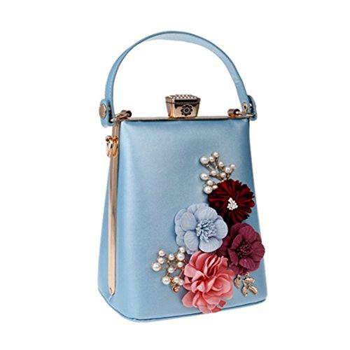 Messenger Bags Bag Ym1199blue Evening Shoulder Flower Evening Beaded For Handbags Party wgIxH4