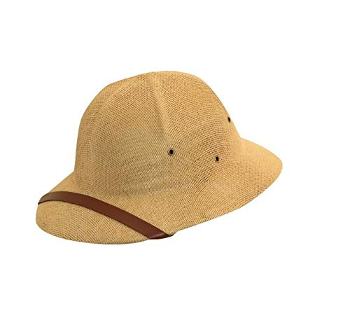 DPC Global Trends Men's Fine Twisted Toyo Pith Helmet, Tan, One Size
