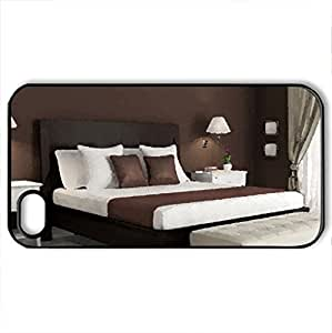 bed_furniture - Case Cover for iPhone 4 and 4s (Watercolor style, Black)