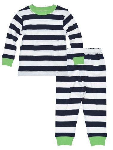 Under The Nile Pajamas (Under the Nile Organic Long John Pajamas, Rugby Stripe Navy (2 Years))