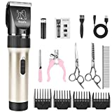 Bojafa Dog Grooming Clippers Low Noise Cordless Pet Hair Grooming Clippers Tools Horse Cat Dog Hair Trimmer Kit