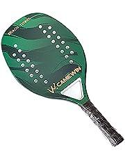 Raquete de tênis de praia de fibra de carbono, raquete de tênis unissex com núcleo em EVA suave, raquete profissional