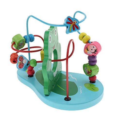 D DOLITY 子供 木製 知育ゲーム 迷路 おもちゃ ビーズ 空間認識 立体 教育玩具