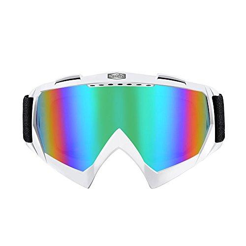 HEROBIKE Motocross Goggles Color Lenses Ski Glasses Off-Road Helmet Windproof Glasses Moto Goggles Red Black White