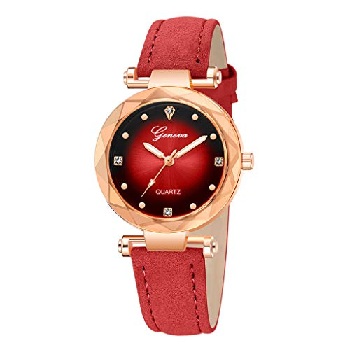 Pengy Women Watches Ultra Slim Purple Display Stainless Steel Band &Leather Strap Luxury Wrist Watches