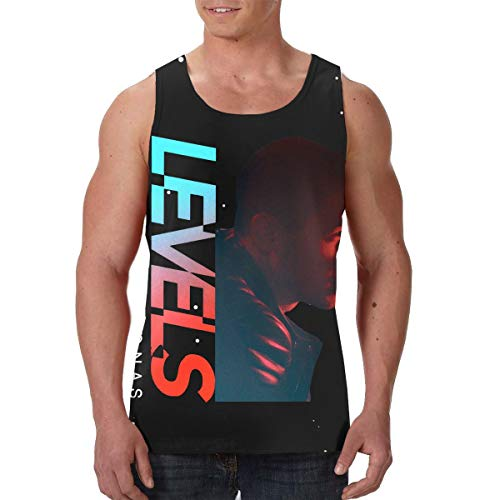 AvisN Men's Nick Jonas-Levels Gym Sleeveless Tank Top Jersey XXL Black ()