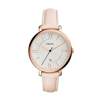Fossil Damen Analog Quarz Uhr mit Leder Armband ES3988 5