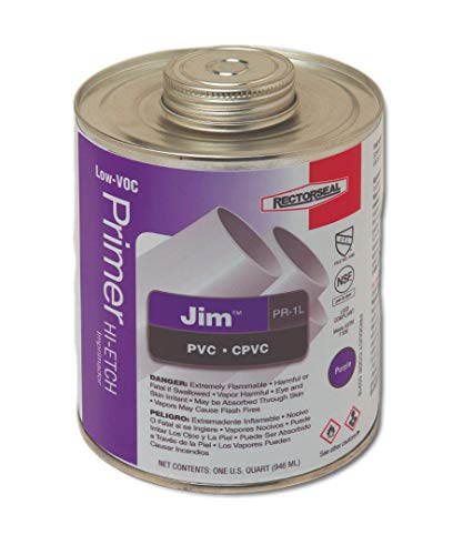 Rectorseal 55918 Quart Pr1L Purple Low Voc Hi-Etch Pvc And Cpvc Primer