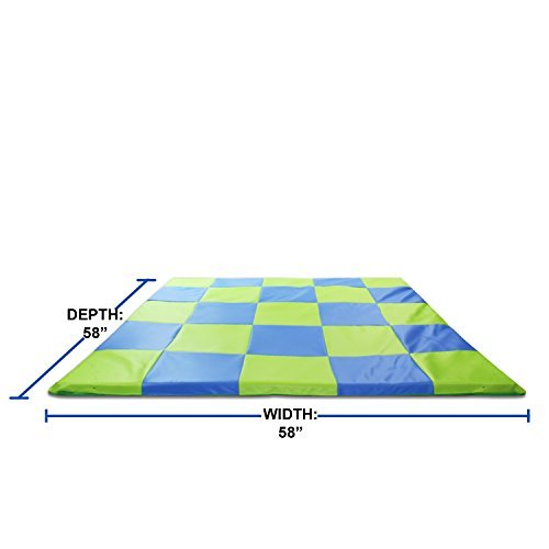 Memory Foam Soft Cushioned Patchwork Baby and Toddler Activity Play Mat by Weisser Toys (Image #3)