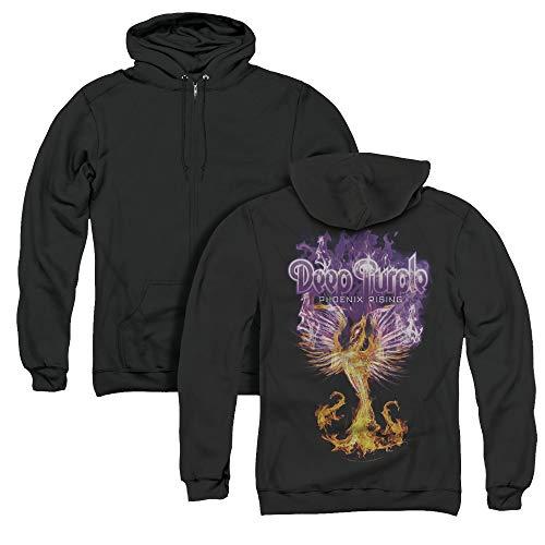 Deep Purple Phoenix Rising Unisex Adult Zipper Hoodie, Back Print, X-Large
