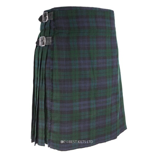 "Best Kilts Men's Traditional Scottish 5 Yard Black Watch Tartan Kilt 46""-48"""
