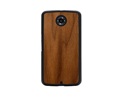 Carved Thin (CARVED Walnut Nexus 6 Slim Matte Black Case - Retail Packaging - Wood)