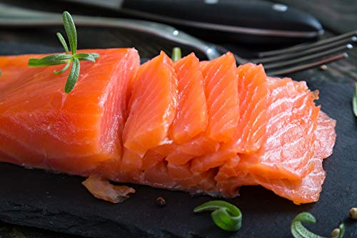 2.9 Lb. New York's Delicacy, Most Awarded, Non-Sliced Smoked Salmon Nova Fillet. (1 Fillet)