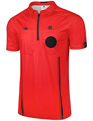 FitsT4 New Pro Soccer Referee Jersey Short Sleeve Ref ()