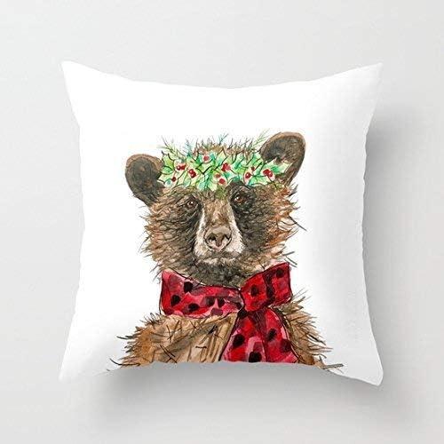 Amazon.com: Wecye Merry Christmas - Funda de cojín cuadrada ...