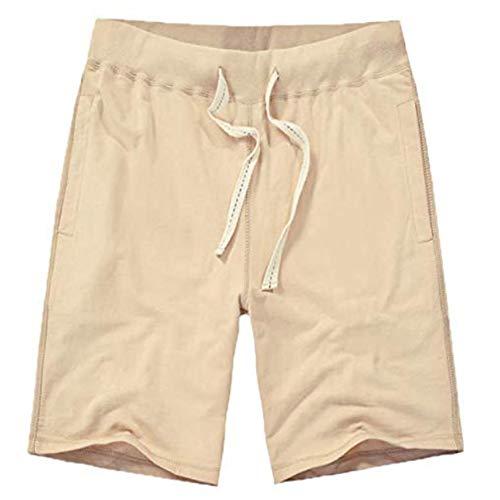 XinDao Women's Soft Knit Elastic Waist Jersey Bermuda Shorts with Drawstring Khaki US 16=L/EUR M