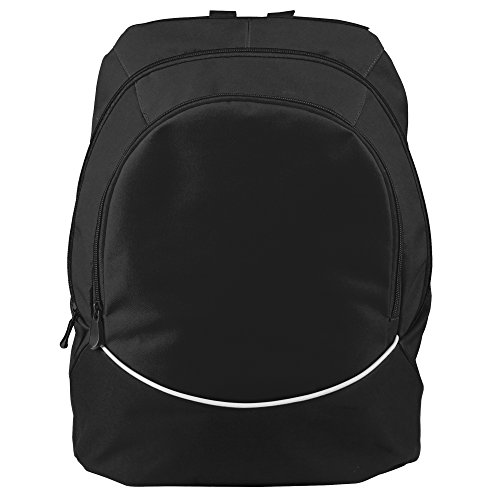 (Augusta Sportswear Large Tri-Color Backpack, One Size, Black/Black/White)