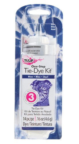 Tulip One Color Tie Dye, Blue - Blue Dye Tie