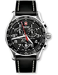 Mens 241444 Chron Classic Black Chronograph Dial Watch. Victorinox Swiss Army