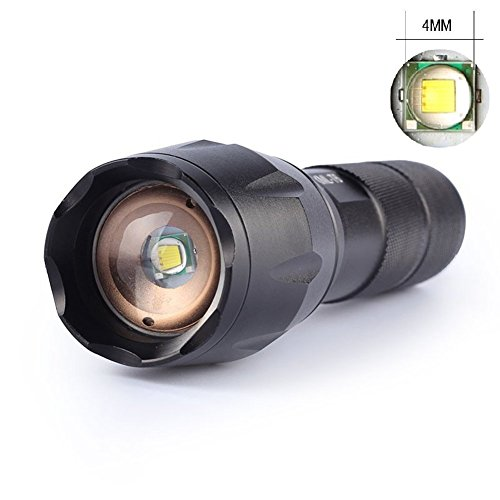 As seen on TV Flashlight, LED Flashlight Portable Handheld Tactical CREE XM-L T6,SOS, Strobe, Zoom, for Home use, Fishing, Hunting,Camping,Cycling,Climbing