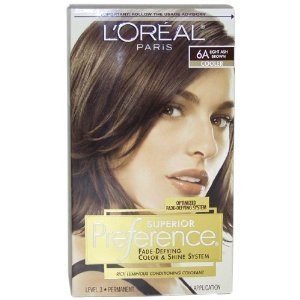 L'Oreal Paris Superior Preference Color Care System, Light Ash Brown 6A, 1 Count (Pack of 12) by COSMAIR