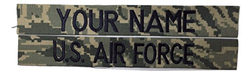 2 piece ABU Name Tape & US Air Force USAF Tape, Sew-On (without Fastener)