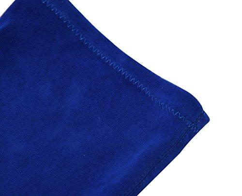 Tacco Velluto Coscia Lato Punta Della Stivali Donna Punta Stiletto Da Cerniera Camssoo Blu qxYwf7UR