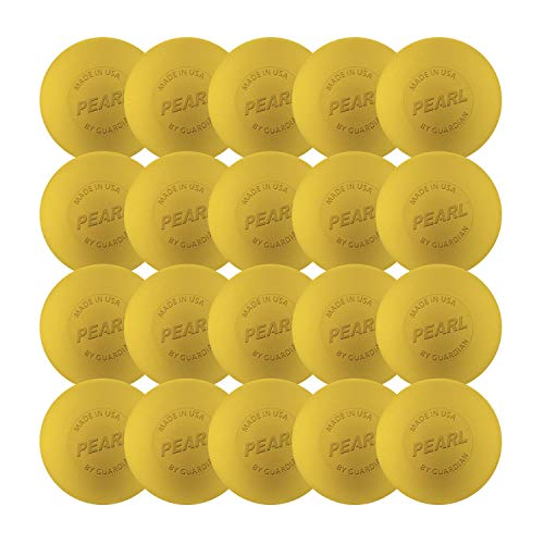 The Pearl by Guardian - Pearl X Greaseless Lacrosse Balls (Yellow, 20 Pack)