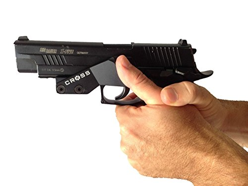Thumb Grip, Pistol Accuracy Aid, Training Aid, Recoil Control, Universal Fits All Pistols With Lower Rail including Glock, Sig, HK, S&W (Lower Rail)