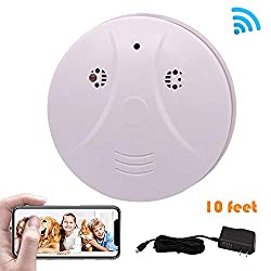 Phoncoo 2018 Upgrade Wifi Hidden Spy Camera Smoke Detector Ir Night Vision Home Security Surveillance Mini Nanny Camera Dvr Wifi Live Stream Video Recorder Ios Android Pc
