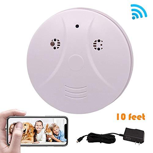 (Phoncoo 2018 Upgrade WiFi Hidden Spy Camera Smoke Detector IR Night Vision Home Security Surveillance Mini Nanny Camera DVR WiFi Live Stream Video Recorder iOS, Android PC)