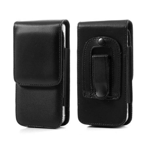 DFV mobile - Leather Flip Belt Clip Case Holster Vertical for =>      APPLE IPHONE 5C > Black