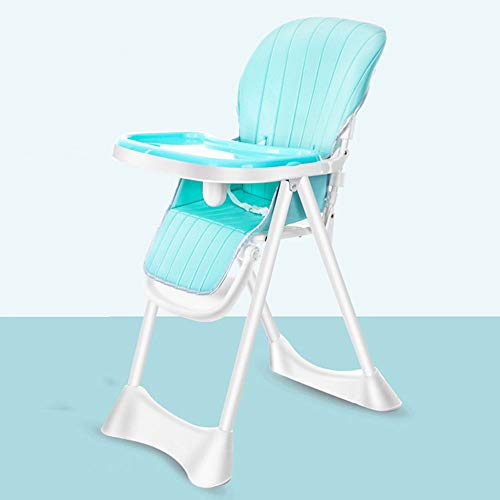 Baby high Chair - Food Grade PP + high Carbon Steel, 6 Months - 6 Years Old Baby Multi-Function Folding Portable Multi-Range Adjustable Horseshoe Base Children's Dining Chair - 3 Colors Optional