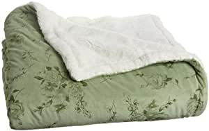 Northpoint Rosette King Sherpa Blanket, Sage