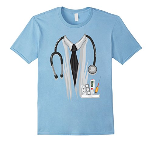 Mens Doctor Halloween Costume Shirt - Great Nurse Outfit Gift Tee Large Baby Blue (Great College Male Halloween Costumes)