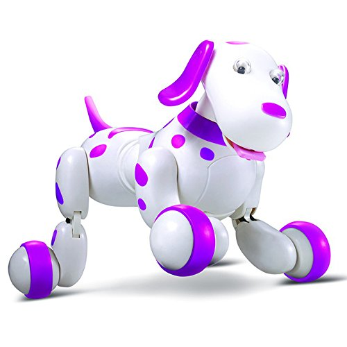 Charming RC strolling Canine, Yamally_9R 2.4G Distant Management Digital Pets Good Canine Interactive Robotic Canine(three x 1.5V AA Battery ,not included) (pink)  Evaluations