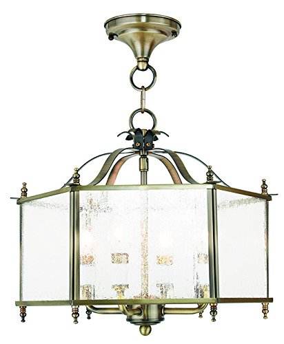 LIVEX 4399-01 Livingston 4-Light Convertible Hanging Lant...