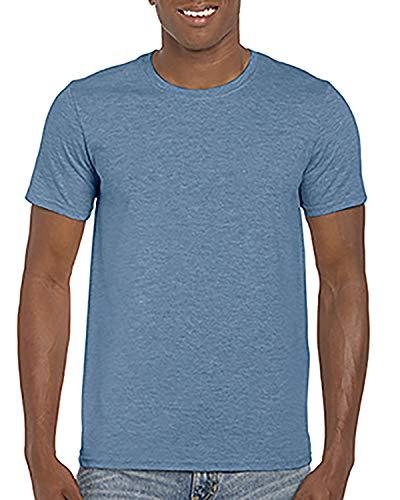 By Gildan Adult Softstyle 45 Oz T-Shirt - Heather Indigo - XL - (Style # G640 - Original Label)