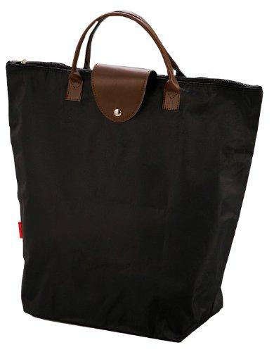 Pearl folding handbag bag (black) MK-2430 (japan import)