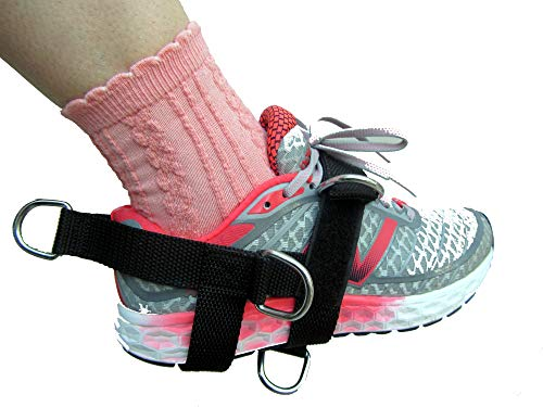 NEW SHIHAN Power-Sports 5-D Ankle/Foot Strap 5 -Ring 5 Position Cable Gym Machine Attachment For Men/Women Yoga, Pilates, LEG/FOOT/ANKLE Training/Fitness Strap (Sold Single) Ideal for Donkey - Attachment Foot