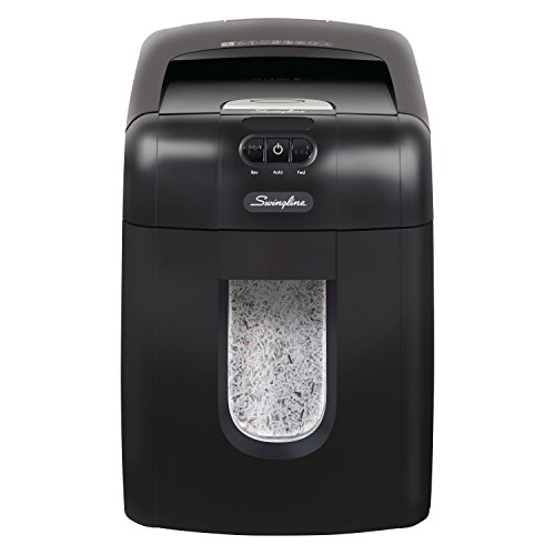 Swingline Paper Shredder, Auto Feed, 130 Sheet Capacity, Micro-Cut, 1-2 Users, Stack-and-Shred 130M (1758571)
