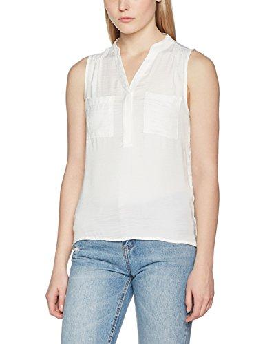 Vila Vimelli S/L Pocket Noos, Tank Top para Mujer Blanco (Cloud Dancer)