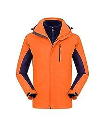 CIKRILAN Mens Outdoor Sports Breathable Coats 3in1 Windproof Warm Fleece Jacket