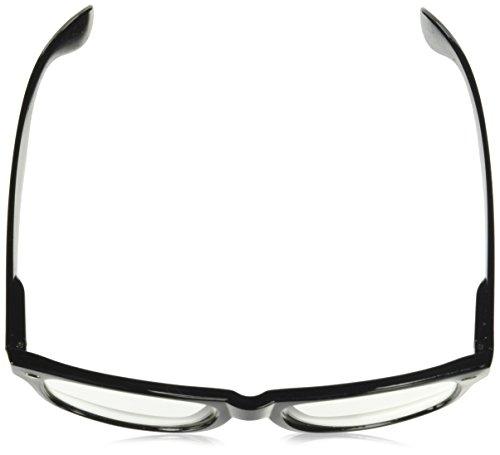 2d9dc024787 Amazon.com  RETRO NERD Geek Oversized BLACK Framed Spring Temple Clear Lens  Eye Glasses  Clothing