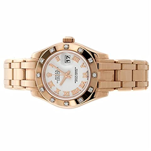 Rolex Pearlmaster automatic-self-wind womens Watch 80315 (Certified Pre-owned) (Rolex Full Gold)