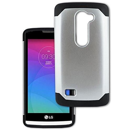 LG Volt 2 C90 / LG Magna H502g / LG G4 Mini (Boost Mobile, Sprint) Customerfirst Phone Slim Case - Dual Layer Hybrid Armor Thin Case Cover Rugged Shock Absorbing Protective Shell (Hybrid Chrome Black)